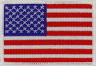50 Pcs USA American Flag W Embroidered Patches 3x2 iron on