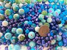 Bulk Lot Glass Beads Mix Blue Turquoise Color Size Shape DIY Craft Jewelry 5 LB