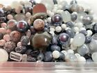 Bulk Lot Glass Beads Mix Black White Silver Size Shape DIY Craft Jewelry 5 LB