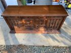 Vintage Curtis Matheus Wooden Stereo Console Am Fm Radio w Record Player