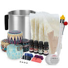 Candle Making Kit Soy Wax Wicks Pitcher Fragrance Oil 4 Color Dyes For Adults