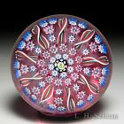 John Deacons radial spokes patterned glass paperweight