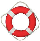 Life Saver Foam Ring Webbing Straps White 15 Float Boat Ship Approved Pool Buoy