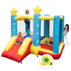 Inflatable Bounce House Kids Slide Jumper Bouncer Ball Pit Pool with 350W Blower