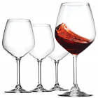 18oz Red Wine Glasses Crystal Clear Star Glass Laser Cut Rim For Wine Tasting