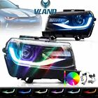 RGB LED Headlights For 2014 2015 Chevy Camaro Sequential Multicolor Projectors