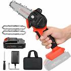 Mini Cordless Chainsaw Kit Upgraded 4 One Hand Handheld Electric Portable