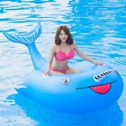 Adult Inflated Swimming Ring Deck Chair PVC Floating Row Rubber Mount Pool Toy
