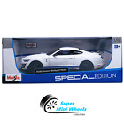 Maisto 118 2020 Mustang Shelby GT500 White  Blue Stripes Special Edition