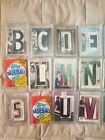 LOT OF 22 autos By the Letter Patch almost complete alphabet of all stars cards