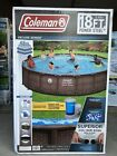 COLEMAN Power Steel Frame 18ft x 48in Round Above Ground Pool Set 18x48