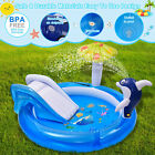 Inflatable Swimming Pool Baby Dolphin Spray Pool Swimming Sliding Game Pool Toy