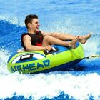 Towable Tube 1 Person Single Rider Inflatable Tow Float Boating Tubing Water