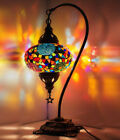 10 Colors Best Price Turkish Moroccan Mosaic Stained Glass Table Lamp