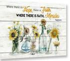 GOD Family Where There is Hope There is Faith Wall Decor Poster No Frame