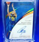 Stephen Curry Autograph Immaculate Collection Basketball Card Warriors NM 25