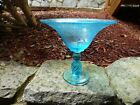 Stunning Blue Tiffin US Glass Flower Garden and Butterflies Compote Rare