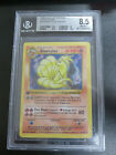 1999 Base 1st Edition Ninetales Thick Stamp Holographic BGS Graded 85 NM MT+