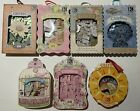 Mixed K  Company ALPHABET CHIPBOX Lot 7 boxes Scrapbooking Cardmaking