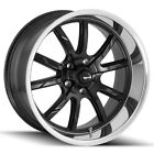 Staggered Ridler 650 Front18x8Rear18x95 5x475 +0mm Black Wheels Rims