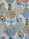 HOLLY HOBBIE Fabric Vintage Knit Patchwork Doll 1970s 2 Panels 70s Hollie Hobby