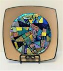 SPECTACULAR FUSED DICHROIC GLASS ART FOR WALL OR SHELF ONE OF A KIND MOSAIC