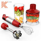 Hand Immersion Blender Food Mixer 4 in 1 Egg Beater Stick 304 Stainless Steel