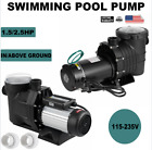 15 25HP In Above Ground Swimming Pool Pump Motor Hayward w Strainer 115 230V