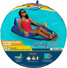 SwimWays Spring Float Recliner Pool Lounge Chair with Hyper Flate Multi Color