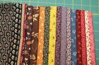 16 REPRODUCTION COTTON QUILT FABRIC FAT QUARTERS 18x22 BY MARCUS FABRICS