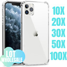 100X Wholesale Bulk Shockproof Clear Case Cover Lot For iPhone 12 11 Pro Xs XR 8