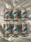 Miami Dolphins official NFL Glass Cups Set Of 6 Brand New