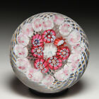 Antique New England Glass Company concentric millefiori glass paperweight