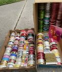 Lot of 175+ Vintage Ribbon Rolls Most New Mixed Colors Sizes Hallmark