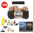 12V Double Cylinder Air Pump Compressor Car Auto Tire Inflator Heavy Duty 150PSI