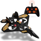 RC Thunderbolt Stunt Drone Fighter Jet Quadcopter 24 GHz w Assisted Landing