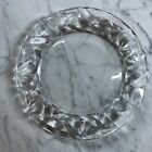 Tiffany  Co Rock Cut Crystal Salad Dessert Plate 8 Preowned Gorgeous