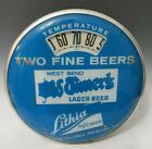 VTG WEST BEND LITHIA OLD TIMERS LAGER BEER GLASS FRONT THERMOMETER OLD