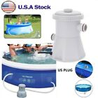 300GPH Swimming Pool Water Cartridge Filter Pump Cleaning System Above Ground US