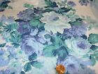 54 yards cotton blue purple teal floral quilting SEWING Fabric CRAFTS 196X44