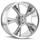 Staggered Ridler 695 Front18x8Rear18x95 5x475 +0mm Chrome Wheels Rims