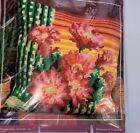 CdA Red Floral Daisies 16 Cross Stitch Pillow Kit Needlepoint Cushion