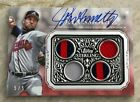 2021 Topps Sterling JOHN SMOLTZ Sterling Strikes auto dual jersey patch RED 5 5