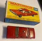LESNEY MATCHBOX No 55 59 FORD GALAXIE FIRE CHIEF CAR EXCELLENT CONDITION