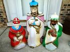 Empire Nativity Blow Mold 3 Wise Men Christmas Kings Plastic Lighted Decor 1970s