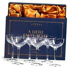 Vintage Crystal Champagne Coupe Glasses  Set of 6  4 5 oz Classic Cocktail