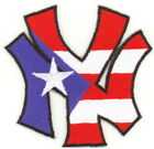 50 Pcs Puerto Rico Flag in NY Embroidered Patches 32x32 iron on