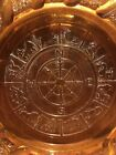 Vintage Amber Imperial Glass Depression with Zodiac design