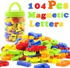 Set 104 Ps Magnetic Letters Numbers Alphabet Fridge Magnets Colorful Plastic Toy
