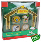 Peanuts Pageant 5 Piece Wooden Play and Display Set Christmas Nativity